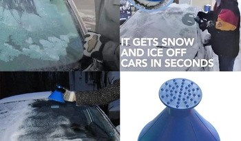 Auto Car Magic Window Windshield Car Ice Scraper Shaped Funnel Snow Remover Deicer Cone Deicing Tool Scraping ONE Round