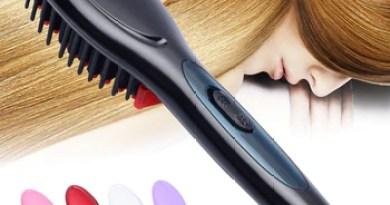Free Shippping Ceramic Electric Hair Straightening Brush Hair Straightener Comb Girls Ladies Wet & Dry Hair Care Styling Tools