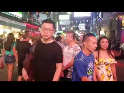 Pattaya Strolling Avenue  Saturday Evening Pattaya Nightlife