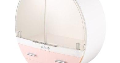 Cosmetic Organizer Cosmetic Storage Box Cosmetic Holder Bedroom Cosmetic Storage Box Desktop Dust Mask Finishing Acrylic Dressin