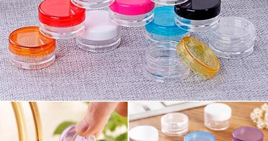 Cosmetic cream storage tank container round bottle 10pcs portable plastic transparent box nail cosmetic beads cosmetic jar box