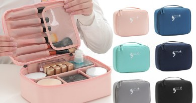 cosmetic bags, handbags, toiletries, cosmetics, travel bags,Women Cosmetic Bag Hanging Travel Makeup Bags Washing Toiletry Kits