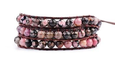 YGLINE Leather Wrap Natural Stone Bracelets Beaded Bracelet Fashion Women Bracelet Bohemian Bracelet Drop shipping