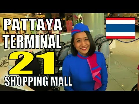 Pattaya Thailand Terminal 21 Browsing Mall. Dolphin Roundabout.
