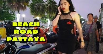 Plump Seaside Freeway Pattaya Thailand at Evening Time – Bar Side