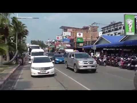Thailand: Pattaya Seaside Road to Jomtien Seaside Road with Bahtbus