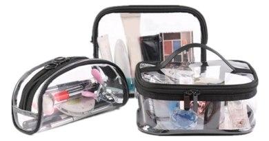 Cosmetic Bags Women Transparent Clear Zipper Travel Transparent Cosmetic BagsMaterproof Pouch Cosmetic Makeup Bags Sept
