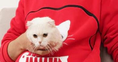 Cat Dog Pet Lovers Autumn winter Black Pullovers Loose Sweatshirt Pocket Animal Ear Hooded Tops Female Breathable pink Hoodie
