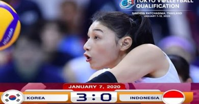 Indonesia vs Korea AVC Womens Tokyo Volleyball Qualification Thailand | Highlight
