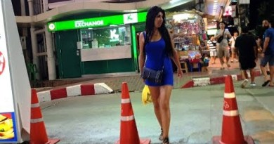 Seaside Street Pattaya Thailand at Evening Time – Appropriate Stroll