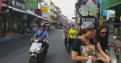 Walking in morning by Soi Buakhao From Pattaya Klang to Soi Buakhao Market