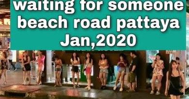 #pattaya #beach #woman waiting_for_someone_beach_road_pattaya_2020