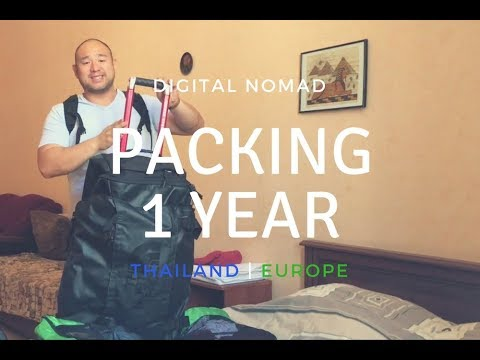 Digital Nomad Packing 2017: 1 Year in Thailand and Europe