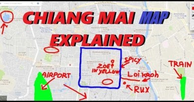 CHIANG MAI MAP outlined with NIGHTLIFE, guesthouses, shuttle recordsdata