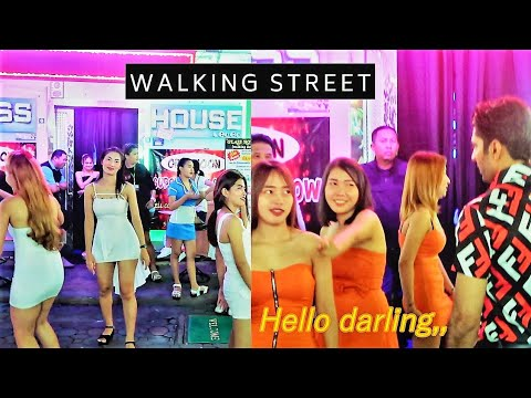 Pattaya Strolling Avenue at Night 2019 | Pink Gentle Condominium | Bars | Ladyboys | Guru Anjana