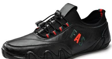 KATESEN Comfortable Men Casual Shoes Loafers Men Shoes Quality Split Leather Shoes Male Flats Hot Sale Driving shoes men
