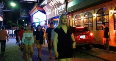 pattaya walking motorway after 2 am