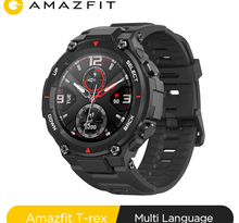 New 2020 CES Amazfit T rex t-rex smartwatch 5ATM Waterresistant GPS/GLONASS Military Grade Protection for Xiaomi iOS