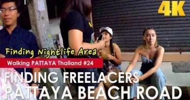 Discovering Freelancers on Pattaya Beach Motorway at Corpulent Night – Strolling Pattaya #24