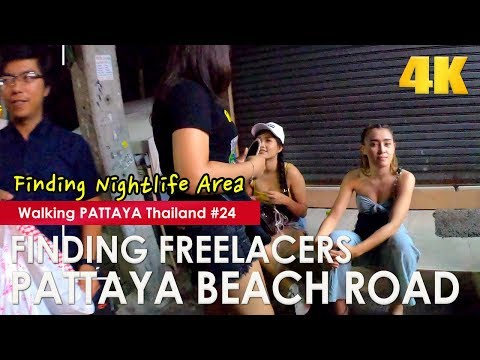 Discovering Freelancers on Pattaya Beach Motorway at Corpulent Night – Strolling Pattaya #24