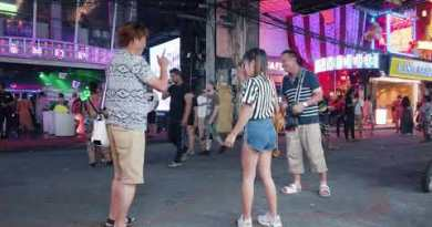 Pattaya. Walking street As consistently there are heaps of visitors on the streets