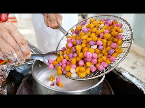 Thai Food – RAINBOW BALLS Coconut Milk Dessert Aoywaan Bangkok Thailand