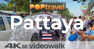 Walking in PATTAYA / Thailand all the contrivance through Songkran – 4K 60fps (UHD)