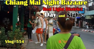 Chiang Mai's Night Bazaare Red Gentle district, Day, and Night. Oh and pizza