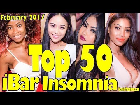 iBAR INSOMNIA: 50 Freshest Ladies in February 2017. PATTAYA NIGHTLIFE (HD) slideshow.