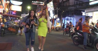 Walking Dual carriageway Slow night Scenes l Pattaya 2019