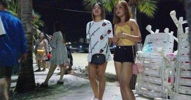 Pattaya Seaside Toll road Poke on Thursday Night time 2020