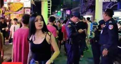 Pattaya Strolling Avenue Mid night Thailand