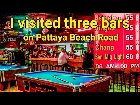 Beer Bar Hopping on Pattaya Seaside Boulevard January 2019
