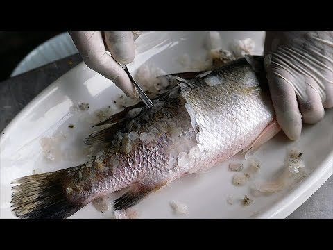 Thai Avenue Food – DEEP FRIED SEA BASS Bangkok Seafood Thailand