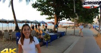 Pattaya Beach Avenue and Freelancers #4 [4K]