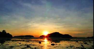 Sunrise over Island Phuket Thailand Time Lapse 4K