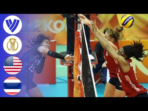 USA vs. Thailand – Paunchy Match | Girls's Volleyball World Championship 2018
