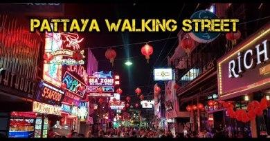Pattaya Walking Avenue : walkthrough in 3 mins (Timelapse)