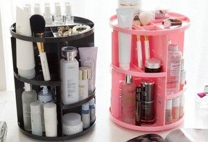 Cosmetics Rack Bathroom Organize Rack 360 Rotating Adjustable Makeup Organzier Shelf Storage Box for Cosmetics Brushes Polish