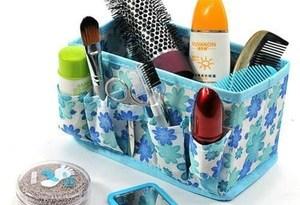 Cosmetic Non-woven Portable Professional Makeup Cosmetics Cases Toolbox Professional Women Makeup Organizer New Fashion 50p