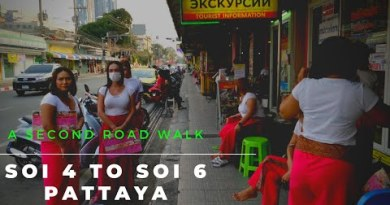 Strolling from Soi 4 to Soi 6 Pattaya Thailand (4K video)