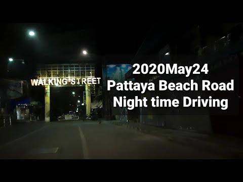 24May2020 Pattaya Shoreline Road Evening Time Driving