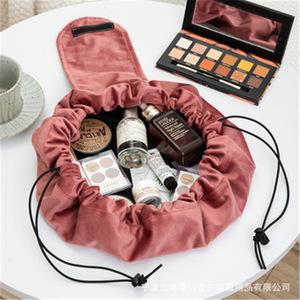Cosmetic Bag Organizer bag velvet storage Bag Drawstring magic cosmetic bag Makeup bags Toiletry Beauty Kit Bag Wash Bag Portable storage bag