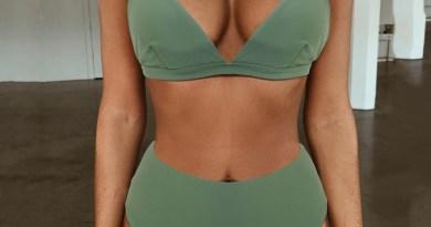 OMKAGI 2020 купальный костюм; Купальник-бикини; Для женщин однотонные ванный комплект зеленый Neno комплект бикини с накладкой женские Высокая Талия пляжная Biquin