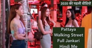 Pattaya – Crimson Gentle Rental, Strolling Aspect motorway & Grownup Nightlife  2020 -Elephantine Video in Hindi