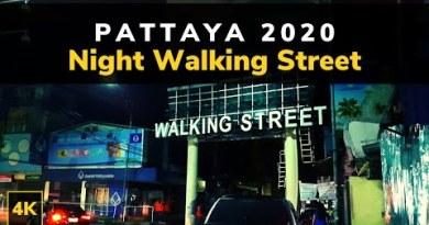 Pattaya Walking Boulevard Nightlife | Pattaya 2020 | Evening Boulevard Hasten Pattaya Thailand 4K