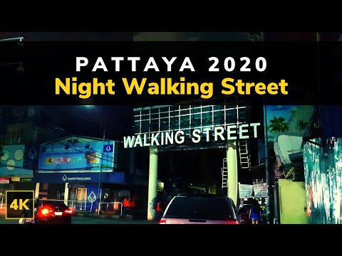 Pattaya Walking Boulevard Nightlife | Pattaya 2020 | Evening Boulevard Hasten Pattaya Thailand 4K