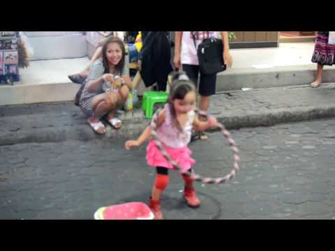 Cute younger girl Hula Hoop (Walking Boulevard Pattaya)