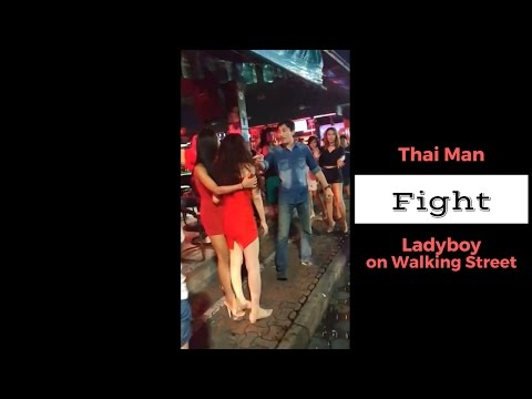 Pattaya Walking Aspect road Fight