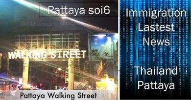 Corona Virus Results on Pattaya soi 6 / Pattaya Walking Facet road, Thailand 2020